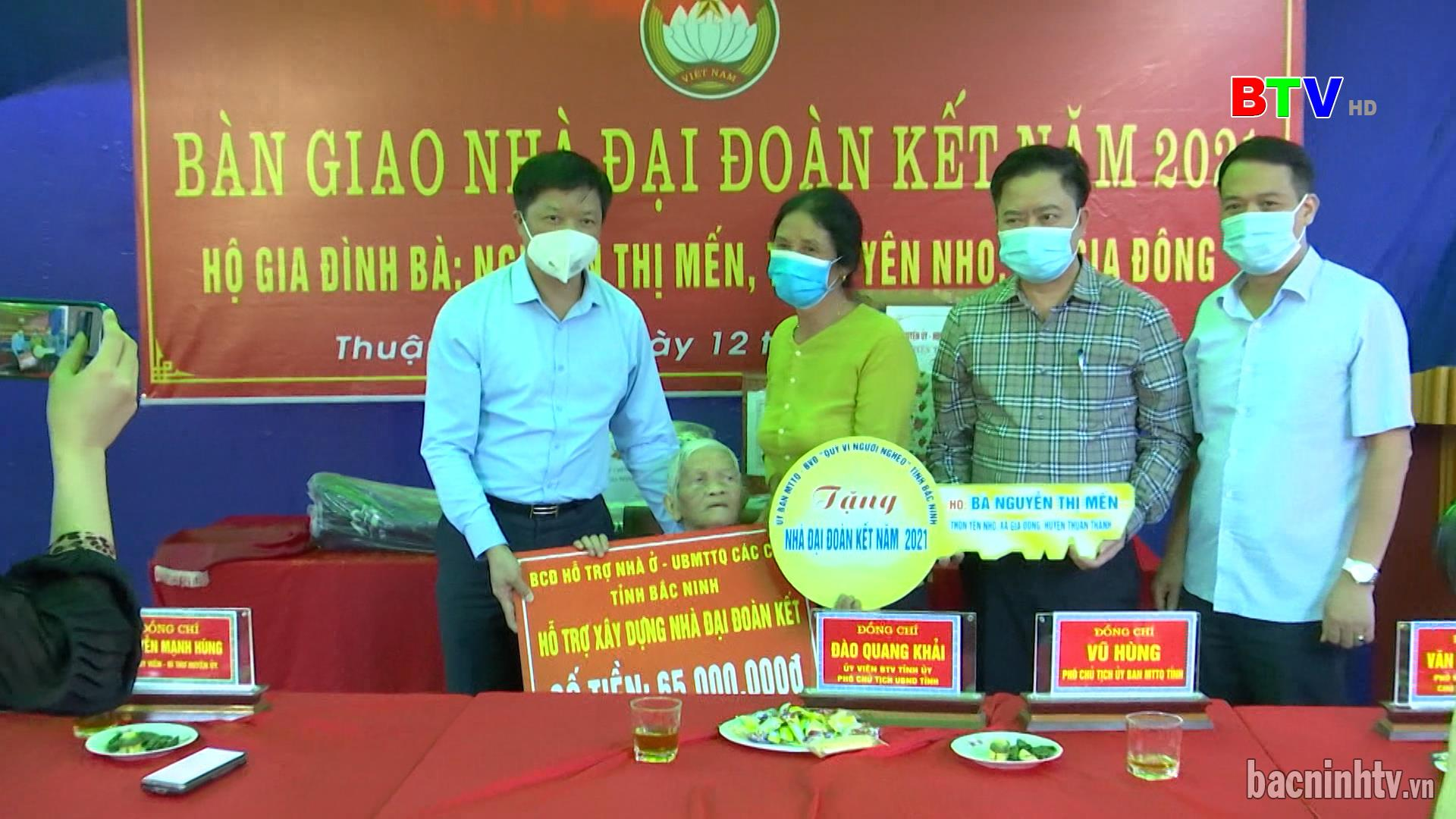 Huyện Thuận Thành tổ chức lễ bàn giao nhà Đại đoàn kết