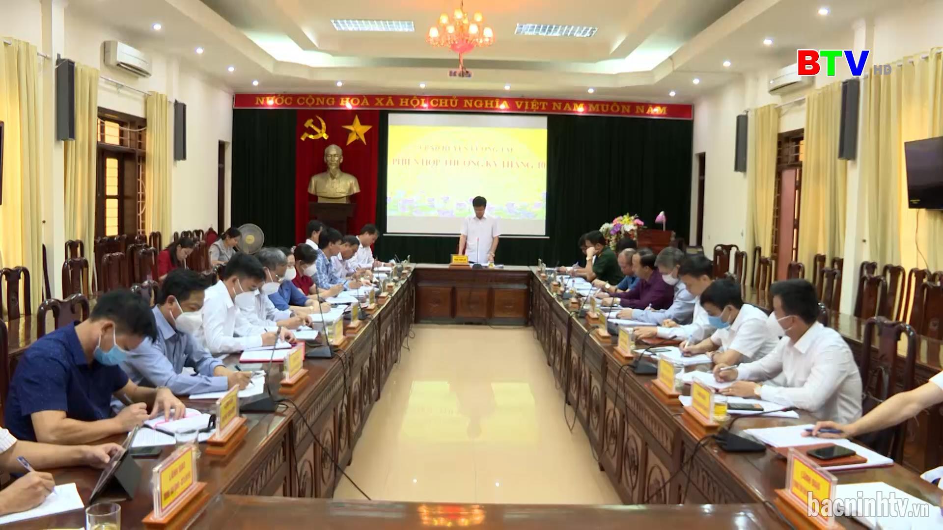 UBND huyện Lương Tài họp thường kỳ tháng 10 năm 2021