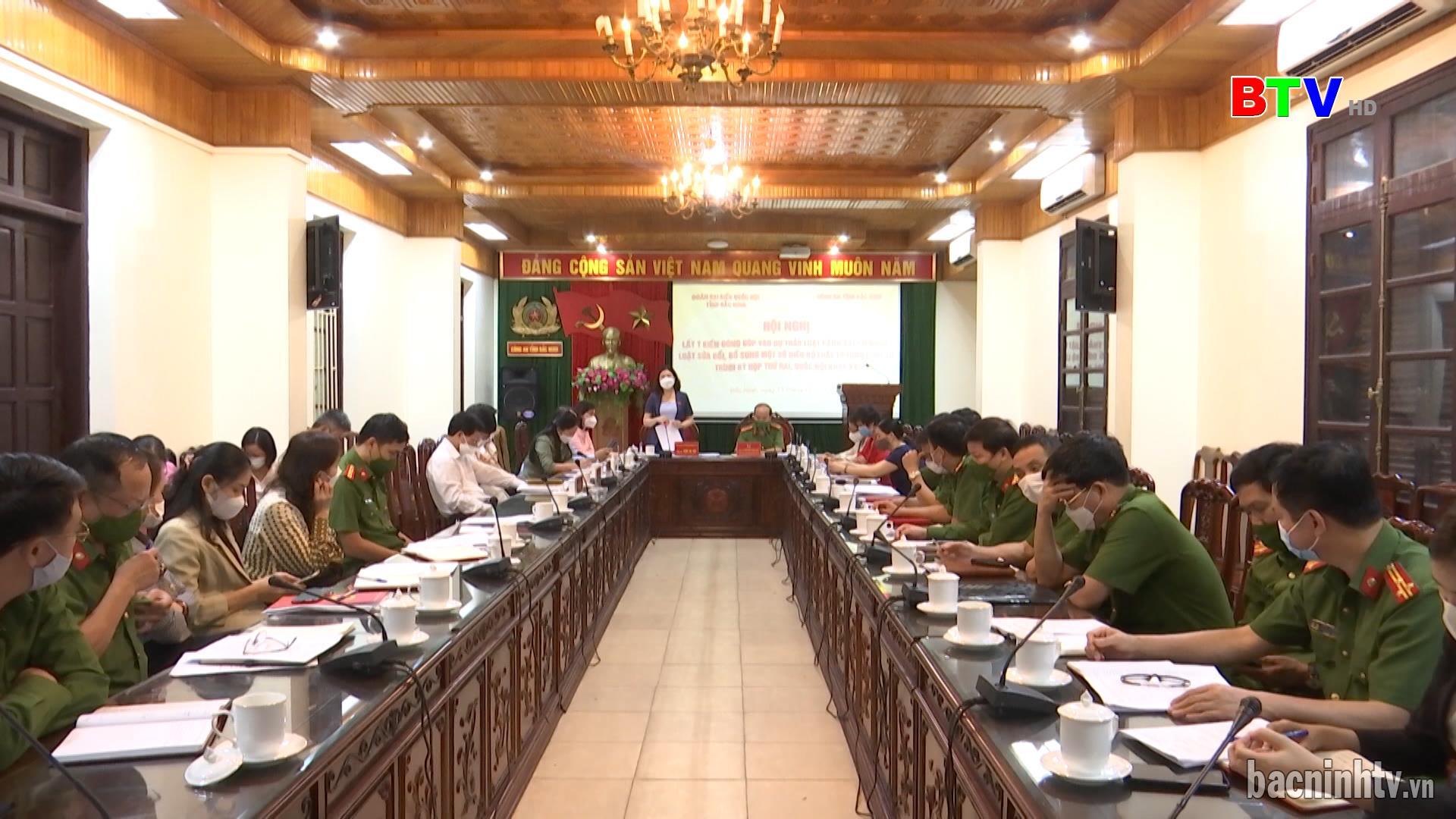 Đoàn Đại biểu Quốc hội tỉnh lấy ý kiến đóng góp vào các dự thảo Luật